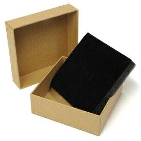 ギフトボックス 貼り箱 10×10×3.5cm アクセサリーケース [ ブラウン / 1個 ] プレゼントボックス ジュエリーBOX 厚紙 スポンジ付き ラッピング パッケージ 無地 収納