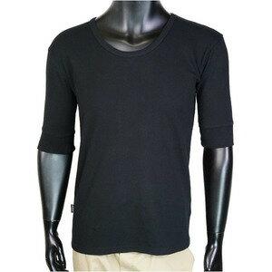AVIREX 5分袖Tシャツ 無地 デイリー Uネック ワッフル [ ブラック / XLサイズ ] アヴィレックス アビレックス 6143508 メンズTシャツ ハーフスリーブ