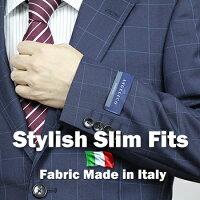 イタリア製高級生地『アンジェリコ』仕立て春夏2ツボタンスタイリッシュスーツ