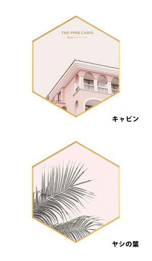 アートフレームアートパネル北欧おしゃれインテリア壁掛けアートカフェ飾る額壁掛け額縁五角形ポスターかわいい可愛いポスターフレームフラミンゴ南国リーフint31【P】