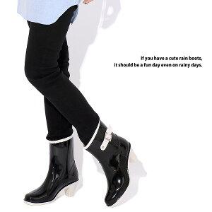 6cmヒールのレインブーツ(ショート丈)◆sk4◆長靴雨靴(ベージュ/ブラック黒/ブラウン茶色)ミドルブーツハーフブーツ◆梅雨集中豪雨浸水ガーデニング畑仕事おしゃれオシャレレインシューズレディース靴大人