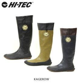 送料無料 HI-TEC ハイテック KAGEROW カゲロウ レインブーツ 長靴 透湿防水 軽量 抗菌防臭 E フィッシング 渓流釣り フェス アウトドア ユニセックス HIT5314316 国内正規品