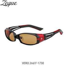 ゼクー Zeque ZEAL OPTICS 偏光サングラス F-1730 VERO 2nd MATTE BLACK/RED LUSTER ORANGE ヴェロ セカンド GLE4580274169017