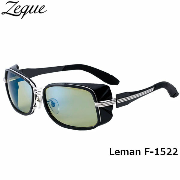 ジールオプティクス ZEAL OPTICS 偏光サングラス Leman レマン F-1522 ブラック×シルバー イーズグリーン×ブルーミラー グレンフィールド GLE4580274164951 釣り フィッシング アウトドア メンズ レディース 偏光グラス 偏光レンズ