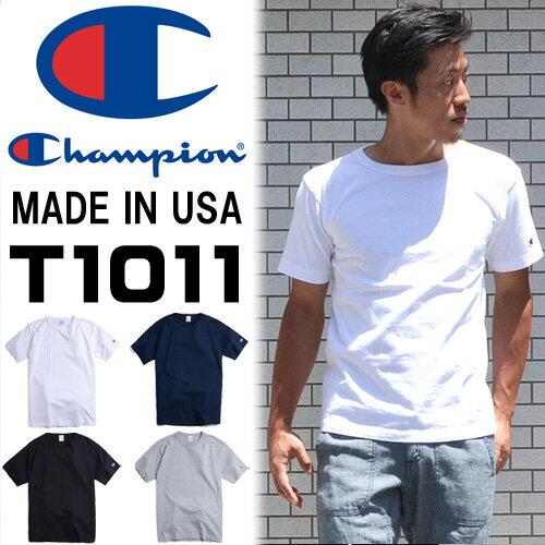 Champion(チャンピオン) T1011 MADE IN USA クルーネック 半袖Tシャツ 無地 アメカジ カットソー C5-P301 【楽ギフ_包装】
