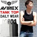 AVIREX(アビレックス) リブ素材 タンクトップ マッスルタンク 無地 メンズ 半T カットソー マッチョタンク トップス Yバック ランニング 61836...