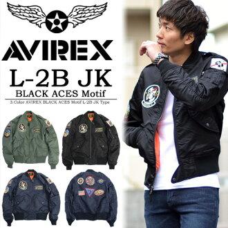AVIREX(abirekkusu)L-2B茄克BLACK ACES黑色能手人灯外衣飞行员茄克军事茄克顶端防寒夹克服徽章跳跃者外衣6162124