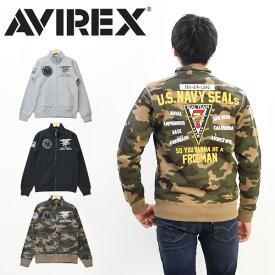 20%OFF セール SALE AVIREX アビレックス スタンドジップ スウェット SEAL TEAM7 ライトアウター スタンドジャケット メンズ アヴィレックス 送料無料 6193337