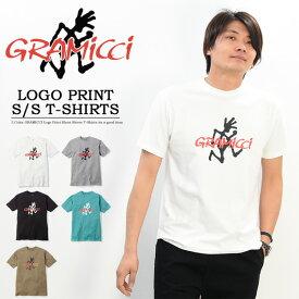20%OFF セール SALE GRAMICCI グラミチ ロゴプリント 半袖 Tシャツ プリントTシャツ 半T ビッグロゴ ランニングマン アウトドア ロゴTシャツ メンズ GUT-19S086