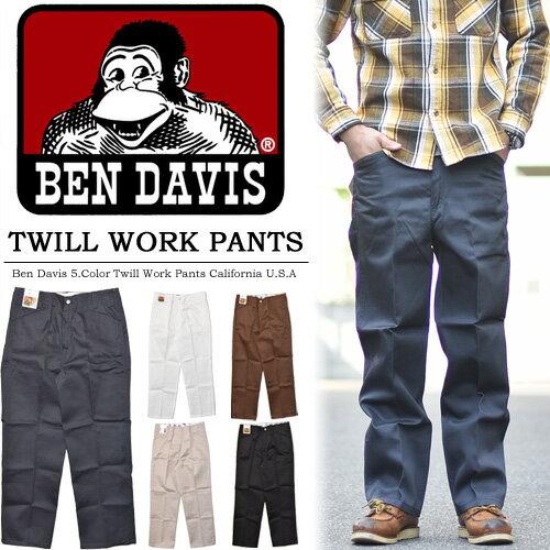 【20%OFF・特価・SALE・セール】 BEN DAVIS ベンデイビス TCツイル チノパンツ ワークパンツ アウトレット 股上深め チノパン ベンデイヴィス メンズ BEN'S BSC-0338 【楽ギフ_包装】