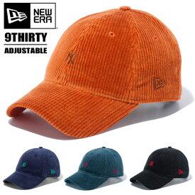 NEW ERA ニューエラ 9THIRTY クロスストラップ コーデュロイ ニューヨーク・ヤンキース キャップ 帽子 ローキャップ 930 メンズ レディース ユニセックス 11781534 11781535 11781536 11781537