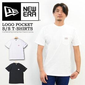 NEW ERA ニューエラ オールドロゴパッチ 胸ポケット 半袖Tシャツ ポケットTシャツ ポケT シンプル メンズ レディース ユニセックス 11900220 11900221