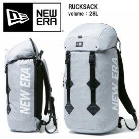 NEW ERA ニューエラ RUCKSACK ラックサック 28L バックパック メンズ レディース ユニセックス バッグ 鞄 リュックサック ストリート 送料無料 12108422 ロゴプリント ヘザーライトグレー ホワイト