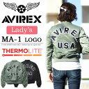 AVIREX アビレックス レディース MA-1 ジャケット ロゴ アウター フライトジャケット 定番 送料無料 6262078 【楽ギフ…