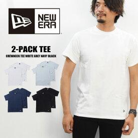 NEW ERA ニューエラ 2枚組 2PACK パックTシャツ 半袖Tシャツ 無地 メンズ レディース ユニセックス 11229177 11229178 11403817 11403818 【楽ギフ_包装】