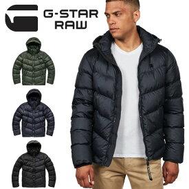G-STAR RAW ジースターロウ ダウンジャケット アウター WHISTLER DOWN PUFFER 長袖 フード メンズ 送料無料 D14010-B418 ブラック ネイビー オリーブ