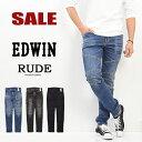 セール SALE エドウィン EDWIN RUDE バイカーデザイン スキニー ストレッチ ジーンズ デニム パンツ 日本製 メンズ バイカーパンツ KRU22