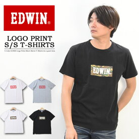 20%OFF セール SALE EDWIN エドウィン ロゴプリント 半袖 Tシャツ カモフラ柄 ペイズリー柄 メンズ レディース ユニセックス プリントTシャツ ロゴTシャツ 半袖Tシャツ ET5680