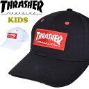 THRASHER スラッシャー キッズサイズ キャップ ボックスロゴ 帽子 ジュニア 男の子 女の子 子供用 19TH-C31K