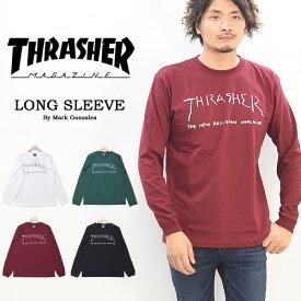 THRASHER スラッシャー ロゴプリント 長袖 Tシャツ ロゴTシャツ ロンT カットソー メンズ レディース ユニセックス 長袖Tシャツ 送料無料 TH93150