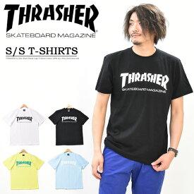THRASHER スラッシャー ロゴプリント 半袖 Tシャツ マグロゴ ロゴTシャツ 半T カットソー メンズ レディース ユニセックス MAG LOGO プリントTシャツ 半袖Tシャツ TH8101