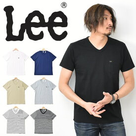 Lee リー 胸ポケット 半袖 Tシャツ Vネック 無地 ボーダー メンズ レディース ユニセックス ポケットTシャツ ポケT 胸ポケ ロゴTシャツ 半袖Tシャツ LT2859