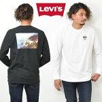 Levi'sリーバイスバックプリント長袖TシャツロゴプリントメンズレディースユニセックスプリントTシャツロゴTシャツロンT長T長袖Tシャツ16139