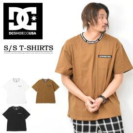 DC SHOES ディーシーシューズ 胸ポケット ネックロゴ 半袖 Tシャツ MIDGATE メンズ レディース ユニセックス ビッグTシャツ ビッグシルエット ロゴTシャツ 首ロゴ 半袖Tシャツ 送料無料 5226J010