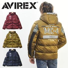 AVIREX アビレックス スリーブジップ ダウンジャケット メンズ フライトジャケット 秋 冬 アヴィレックス アウター 送料無料 6192157