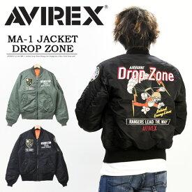 AVIREX アビレックス MA-1ジャケット ドロップゾーン DROP ZONE メンズ フライトジャケット 刺繍 アヴィレックス アウター 送料無料 6192206