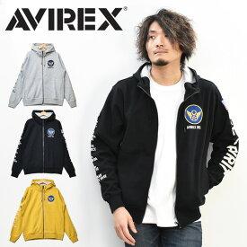 AVIREX アビレックス フルジップ パーカー B-2 スピリット ジップパーカー メンズ ジップアップパーカー ライトアウター スウェットパーカー プリント アヴィレックス 送料無料 6103394
