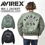 AVIREXアビレックスMA-1ジャケットコマーシャルロゴメンズフライトジャケットアウターブルゾン定番アヴィレックス送料無料6102171