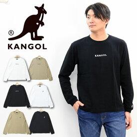 KANGOL カンゴール ワンポイントロゴ刺繍 長袖 Tシャツ メンズ レディース ユニセックス ロンT ロゴTシャツ 9173-9017