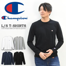 Champion チャンピオン 長袖 Tシャツ 無地 ワンポイント メンズ レディース ユニセックス ロンT 定番 長袖Tシャツ C3-P401