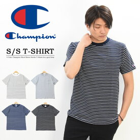 Champion チャンピオン ボーダー 胸ポケット 半袖 Tシャツ メンズ レディース ユニセックス ボーダーTシャツ 半袖Tシャツ ポケT C3-P304