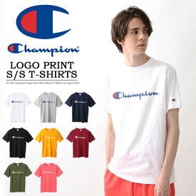 10%OFF セール SALE Champion チャンピオン ロゴプリント 半袖 Tシャツ メンズ レディース ユニセックス プリントTシャツ ロゴTシャツ 定番 半袖Tシャツ C3-P302