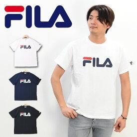 FILA フィラ ロゴプリント 半袖 Tシャツ メンズ レディース ユニセックス プリントTシャツ ロゴTシャツ 半T 半袖Tシャツ FM4827