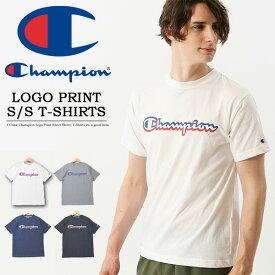 20%OFF セール SALE Champion チャンピオン ロゴプリント 半袖 Tシャツ スポーツ トレーニング メンズ レディース ユニセックス 半袖Tシャツ ロゴTシャツ プリントTシャツ C3-PS324
