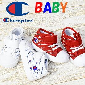Champion チャンピオン キッズ ベビー 子供靴 シューズ CP BR011 ルーキーコート CANVAS 13cm 14cm スニーカー 靴 セカンドシューズ 赤ちゃん ベビーシューズ ホワイト レッド