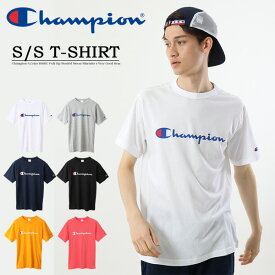 大きいサイズ Champion チャンピオン BASIC ロゴプリント 半袖Tシャツ メンズ クルーネック 定番 ロゴTシャツ プリントTシャツ C3-P302L