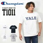 ChampionチャンピオンMADEINUSAT1011カレッジプリント半袖TシャツYALEエール大半T半袖Tシャツメンズレディースユニセックス送料無料C5-T303