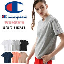 Champion チャンピオン レディース BASIC Vネック 半袖Tシャツ ワンポイント 綿100% 無地 ウィメンズ ブイネック 定番 CW-M323 【楽ギフ_包装】