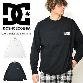 DC SHOES ディーシーシューズ 胸ポケット ロゴプリント 長袖 Tシャツ ロンT メンズ レディース ユニセックス ビッグTシャツ ビッグシルエット ロゴTシャツ 長T 長袖Tシャツ 送料無料 DLT211024