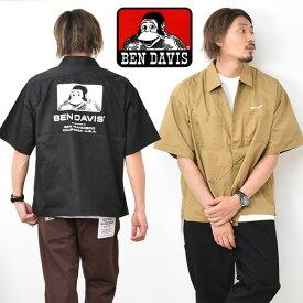 20%OFF セール SALE BEN DAVIS ベンデイビス ビッグシルエット ロゴプリント 半袖 ワークシャツ メンズ レディース ユニセックス ベンデビ 半袖シャツ 大きめ ゴリラ 送料無料 0580038