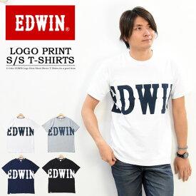20%OFF セール SALE EDWIN エドウィン ビッグロゴプリント 半袖 Tシャツ メンズ レディース ユニセックス プリントTシャツ ロゴTシャツ 半袖Tシャツ ET5725