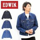 大きいサイズ EDWIN エドウィン ベーシック Gジャン デニムジャケット ジージャン デニム メンズ トップス ジーンズ トラッカージャケット 定番 送料無料 ET1087