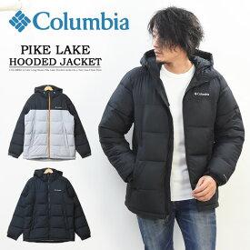 Columbia コロンビア パイクレイク フーデッドジャケット オムニヒート 中綿ジャケット ナイロンジャケット アウター マウンテンパーカー メンズ キャンプ アウトドア 送料無料 WE0020