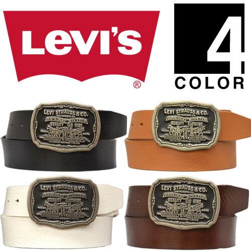 【送料無料】Levi's(リーバイス) ツーホースロゴバックル レザーベルト 70216067 【楽ギフ_包装】