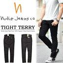 【送料無料】 Nudie Jeans ヌーディージーンズ TIGHT TERRY(タイトテリー) スキニー ストレッチデニム 46161-1017 DEEP BLACK ブラック 112451 スリム