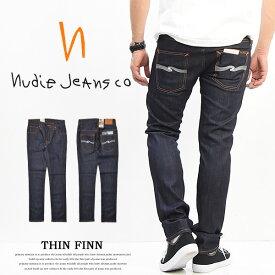 【送料無料】 Nudie Jeans(ヌーディージーンズ) THIN FINN(シンフィン) スキニーストレート ストレッチデニム メンズ ストレッチ デニム 559:DRY ECRU EMB 110268 イタリア製 定番 【楽ギフ_包装】